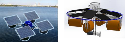 太阳能微纳米曝气机